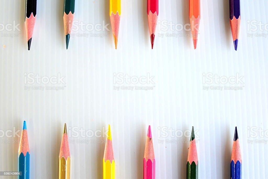 Lápices colorido con espacio foto de stock libre de derechos