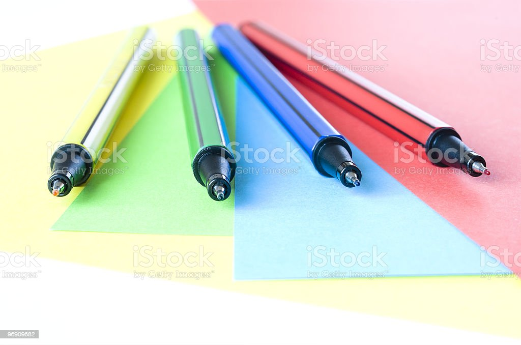 Colorful Pens royalty-free stock photo
