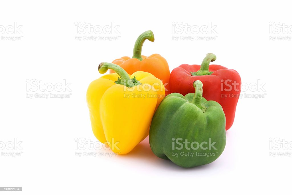 Colorful peppers stock photo