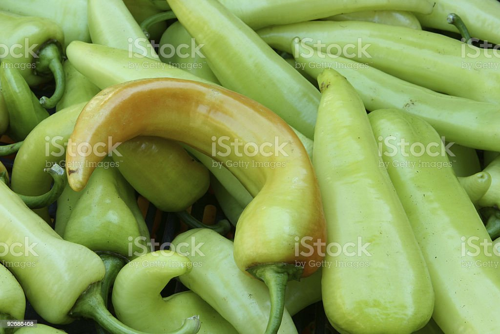 Colorful peppers series stock photo