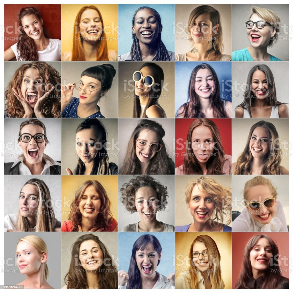 Colorful personalities stock photo