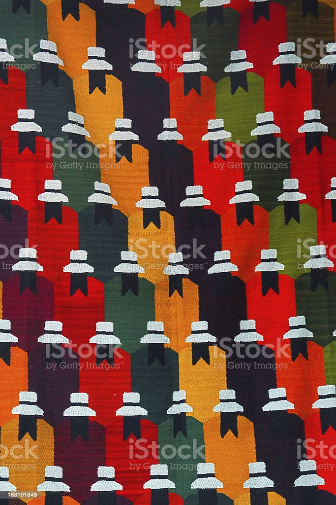 Colorful Peruvian textiles royalty-free stock photo