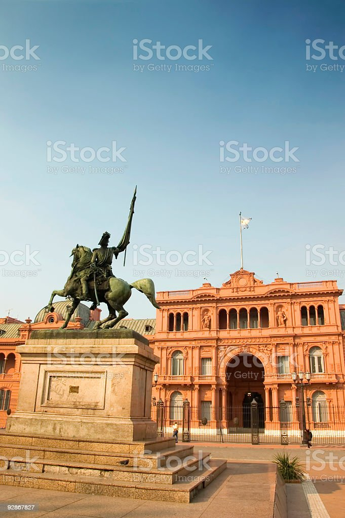 Colorful photo of Casa Rosada in Buenos Aires, Argentina stock photo