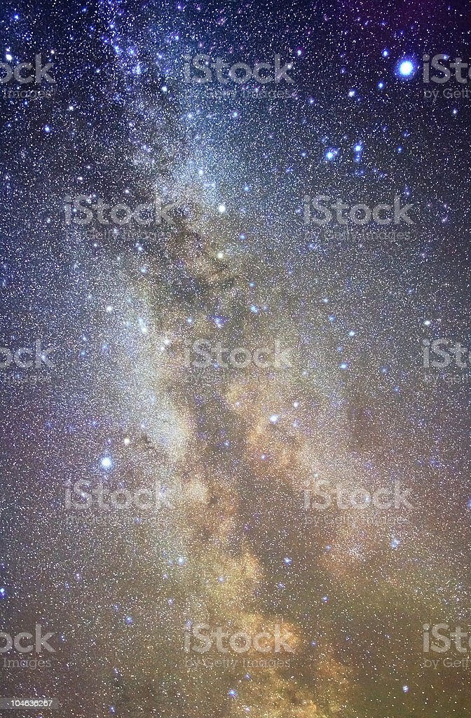 Colorful photo of the Milky Way royalty-free stock photo
