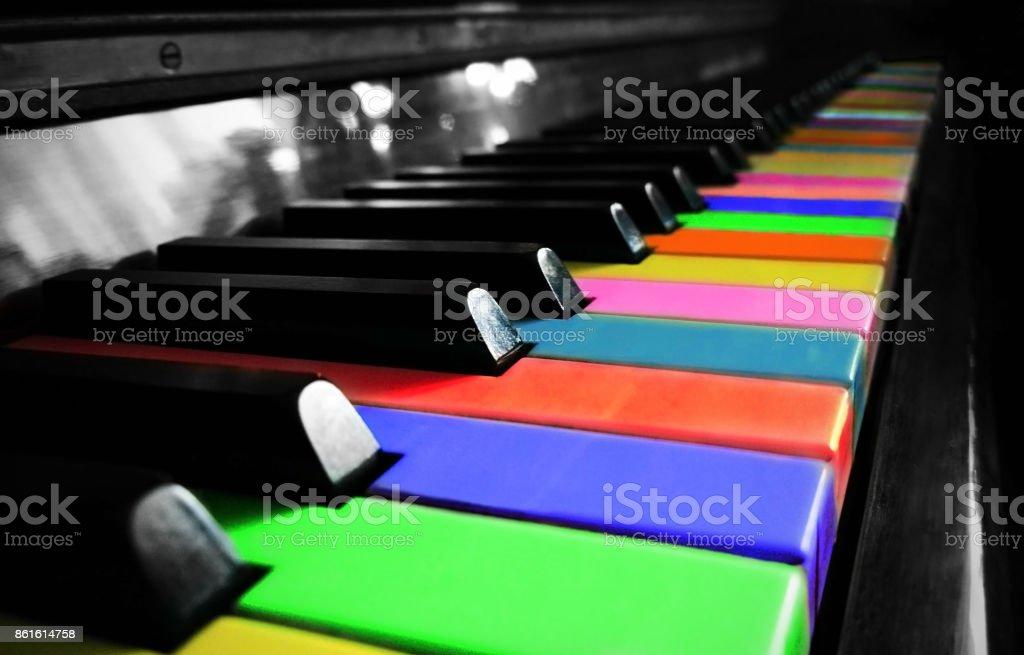 Colorful piano. stock photo