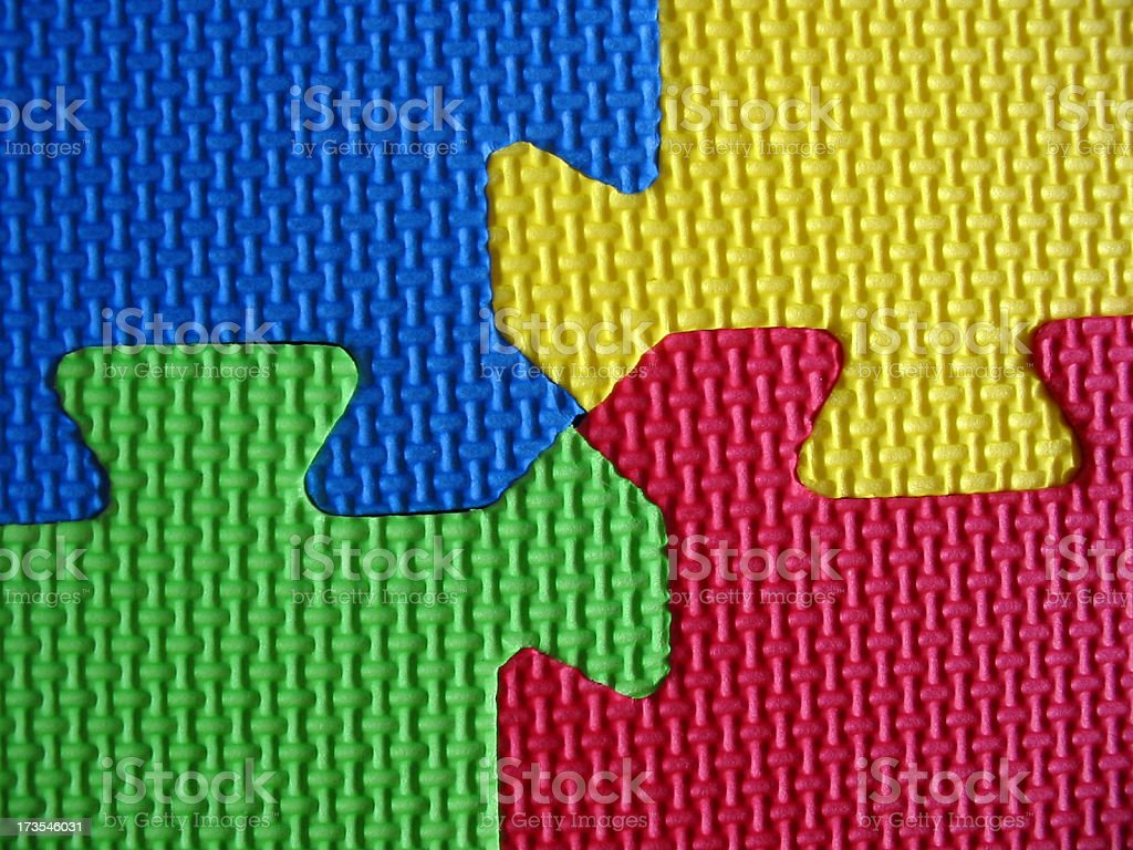 Colorful Pieces royalty-free stock photo