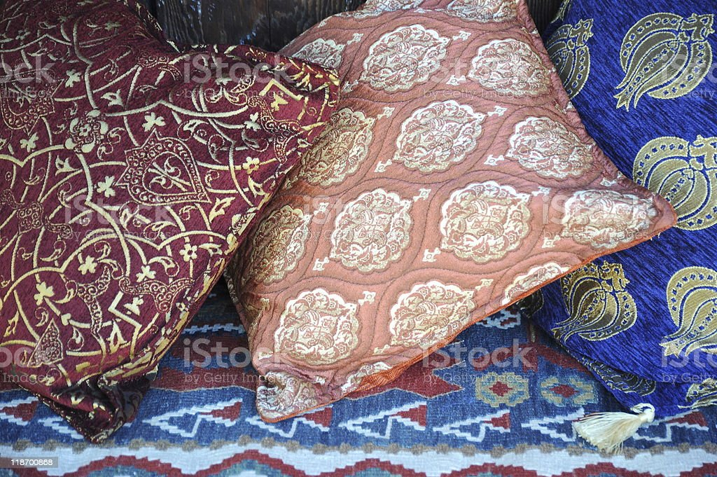 Colorful pillows. stock photo
