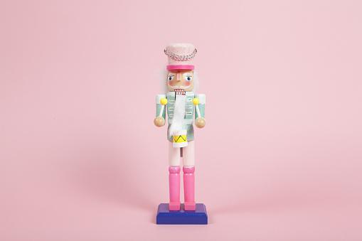 Colorful pink nutcracker
