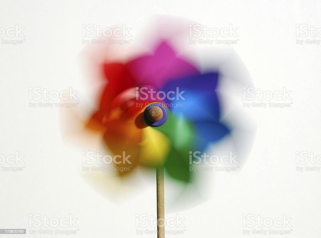 Colorful pinwheel (windmill) royalty-free stock photo