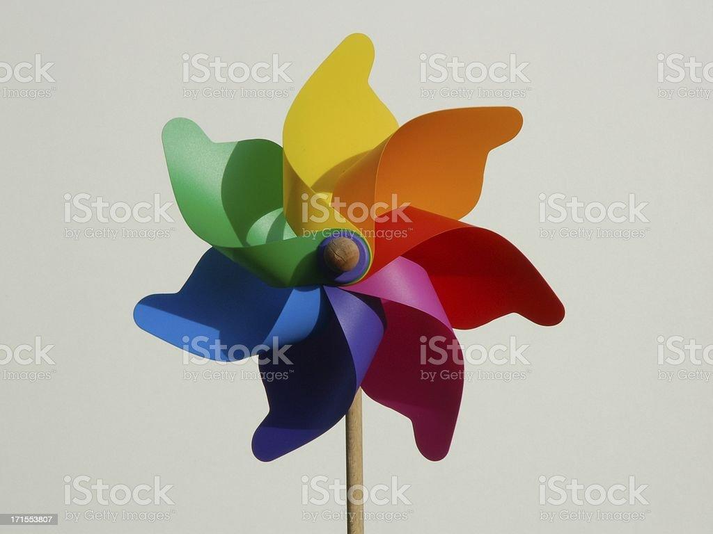 Colorful pinwheel (windmill) stock photo