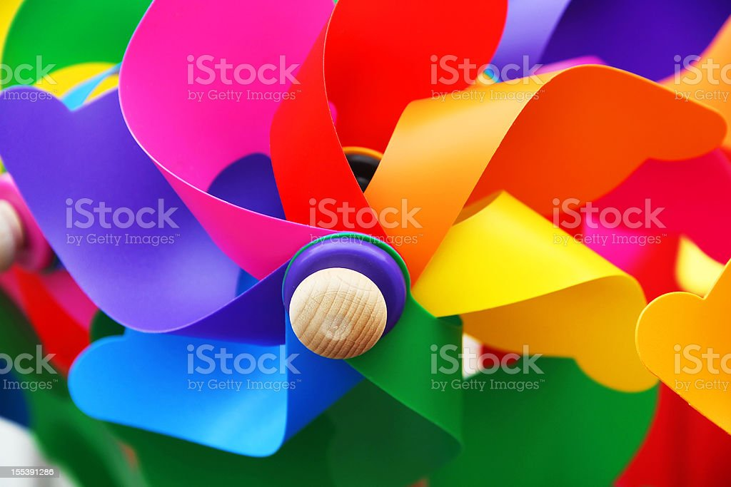 Colorful Pinwheel Windmills royalty-free stock photo