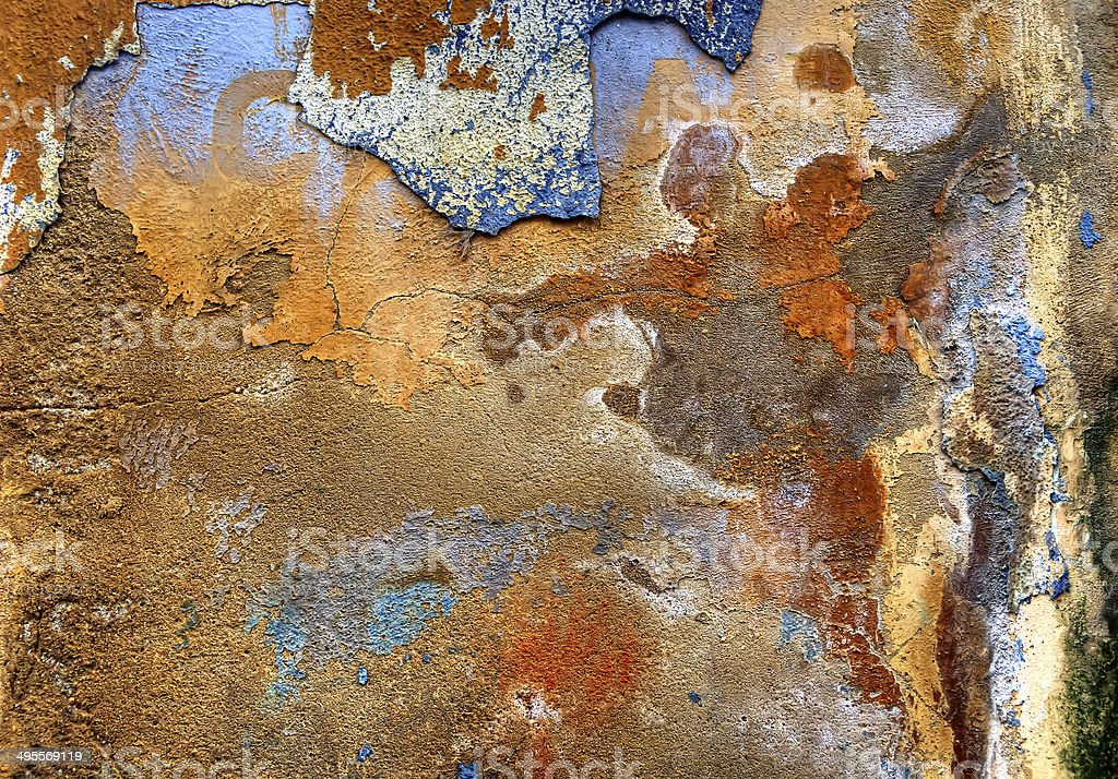 colorful plastered wall stock photo