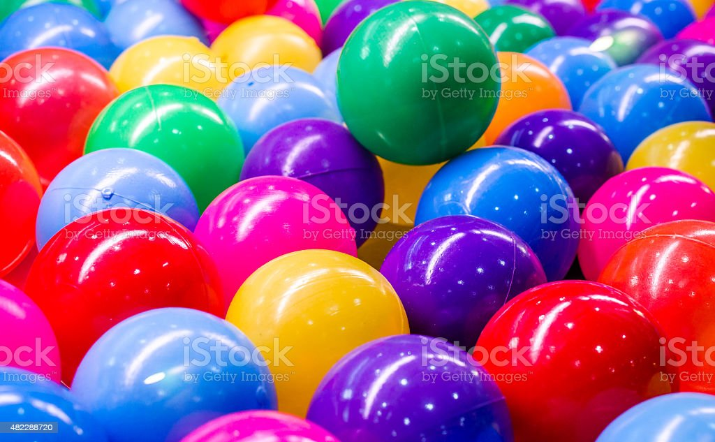Colorful plastic balls for background stock photo