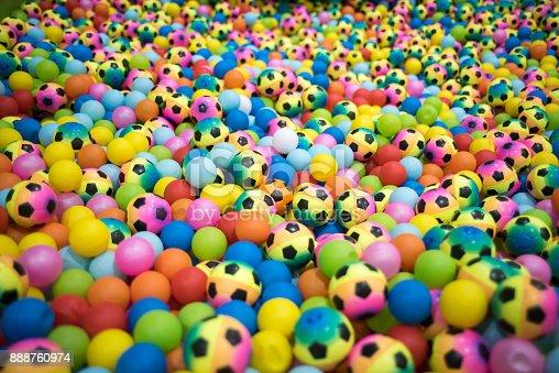 544818734 istock photo Colorful plastic balls playground indoors 888760974