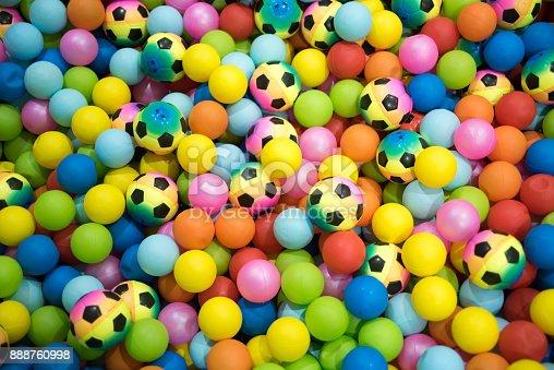 544818734 istock photo Colorful plastic balls playground indoors 888760998