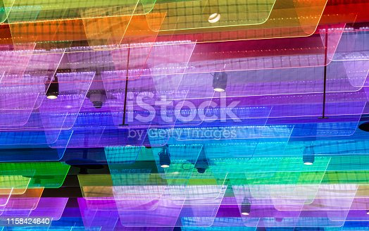 colorful plastic fin light on roof design