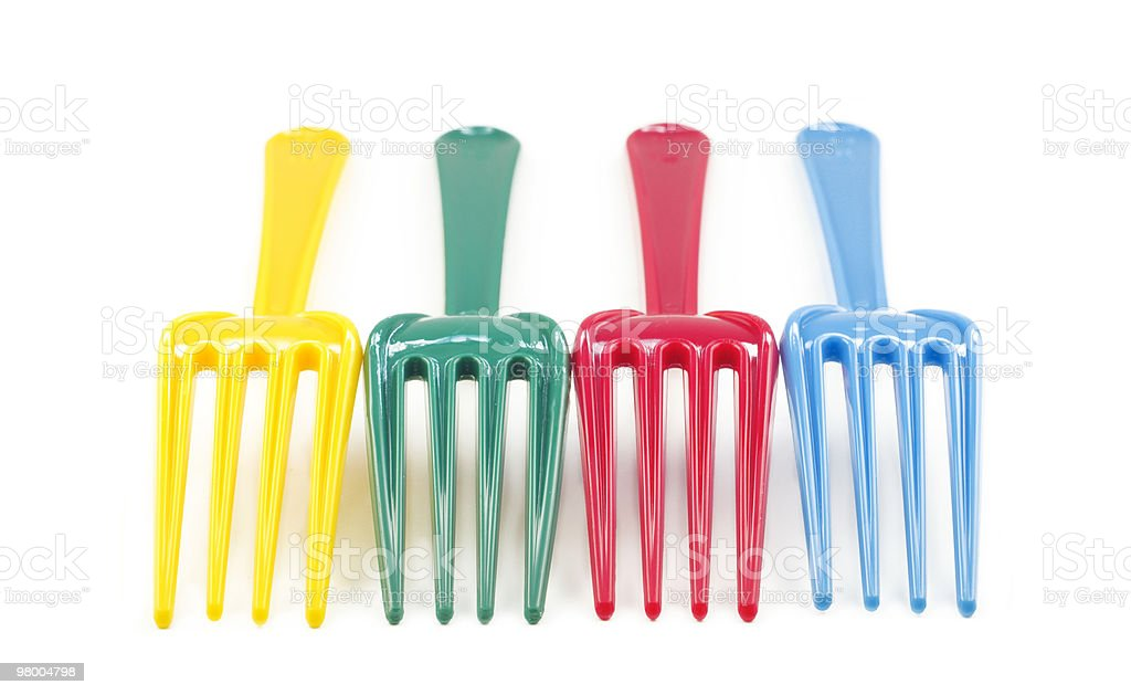 Colorful Plastic Forks royalty-free stock photo