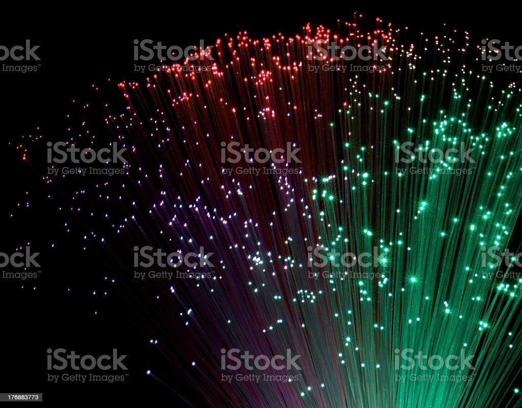 colorful plastic optical fibers stock photo