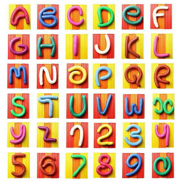 colorful plasticine alphabet - ruth 個照片及圖片檔