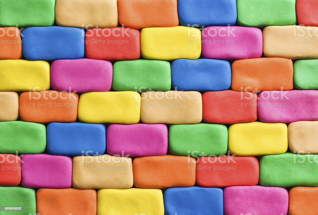 Colorful plasticine wall royalty-free stock photo