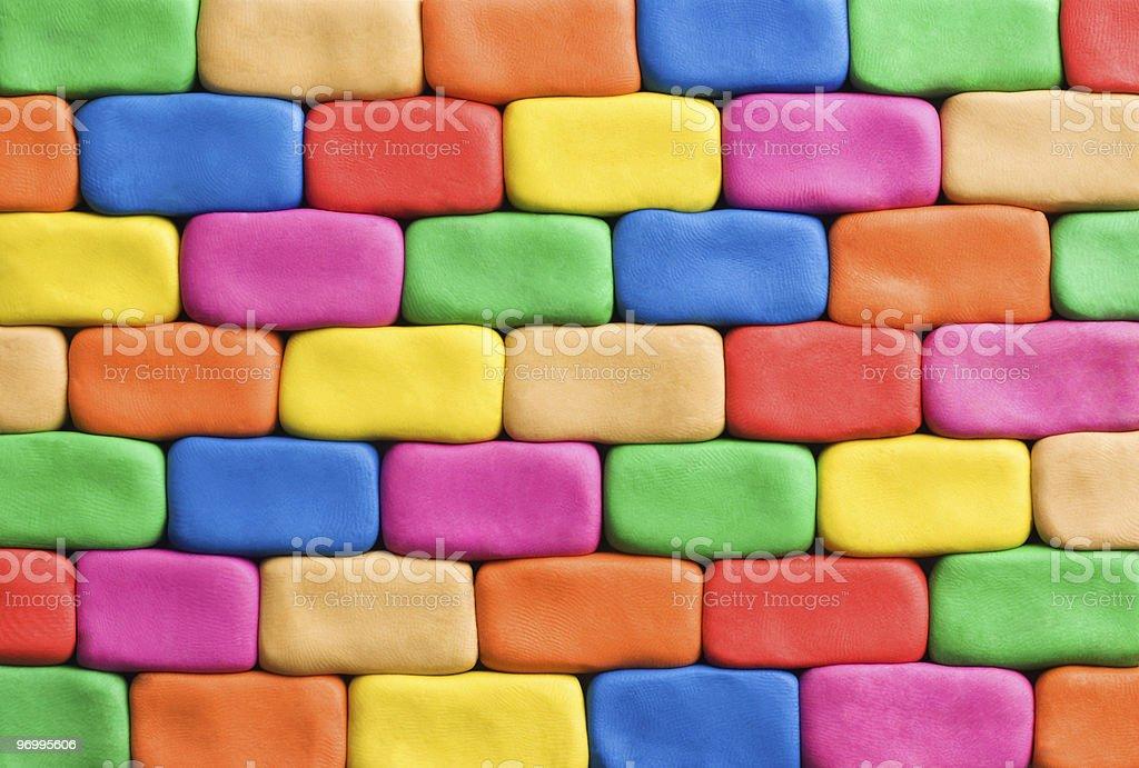 Colorful plasticine wall stock photo