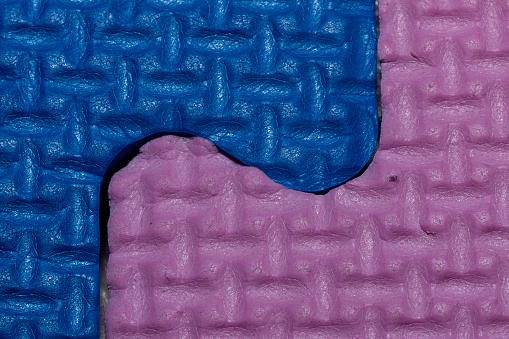 detail of a soft play mat, joints of the pieces