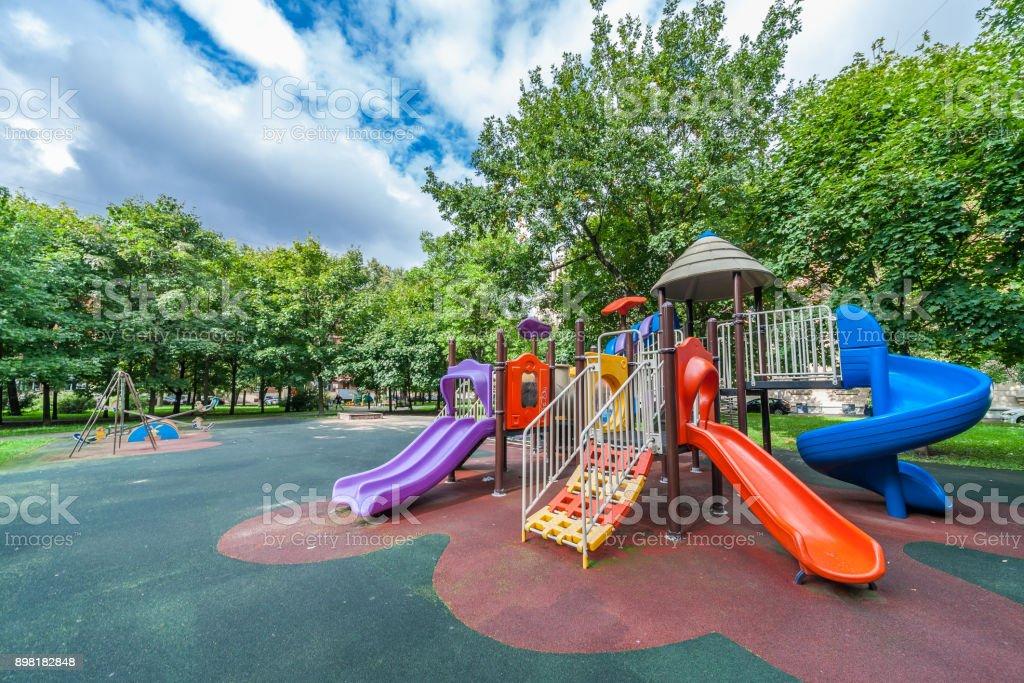 Colorido Equipamento de playground - foto de acervo