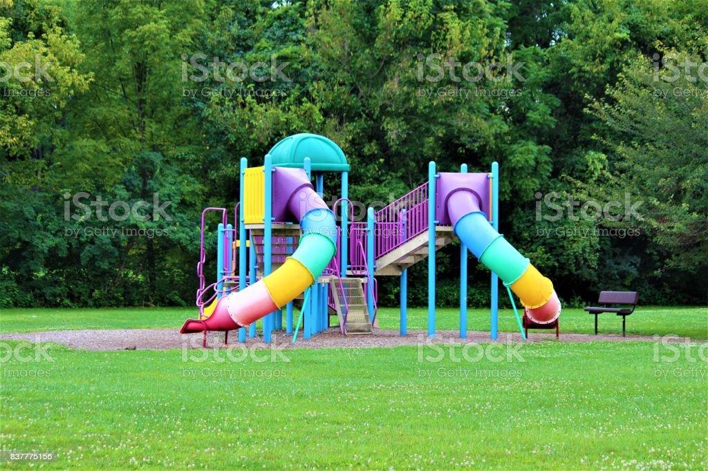 Playground colorido - foto de acervo