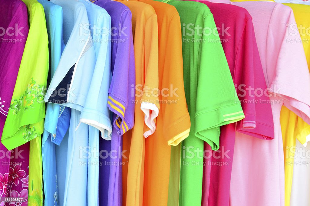 colorful polo shirt background royalty-free stock photo