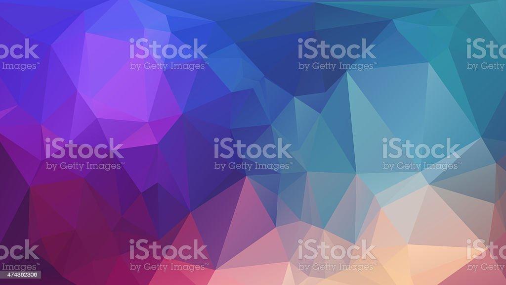 colorful polygon stock photo