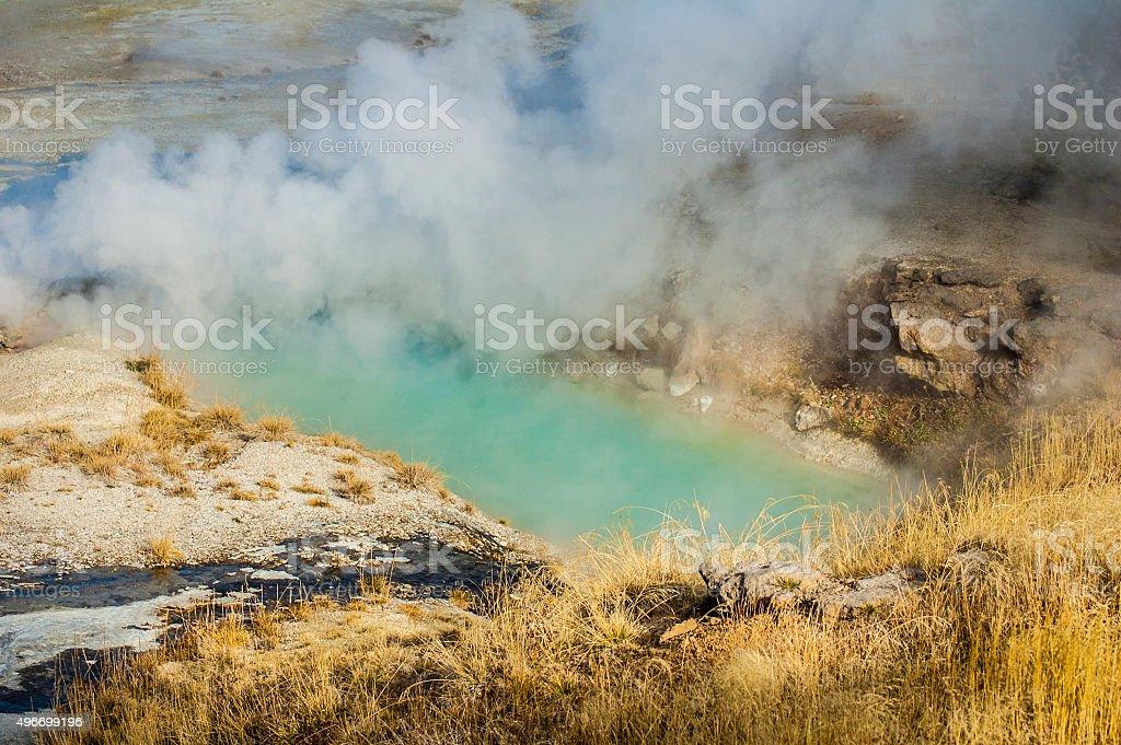 Colorful Pool at Norris Geyser Basin stock photo