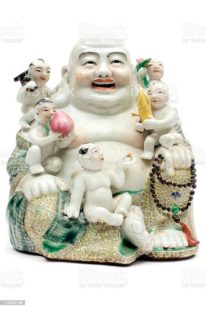 Colorful Porcelain Buddha royalty-free stock photo