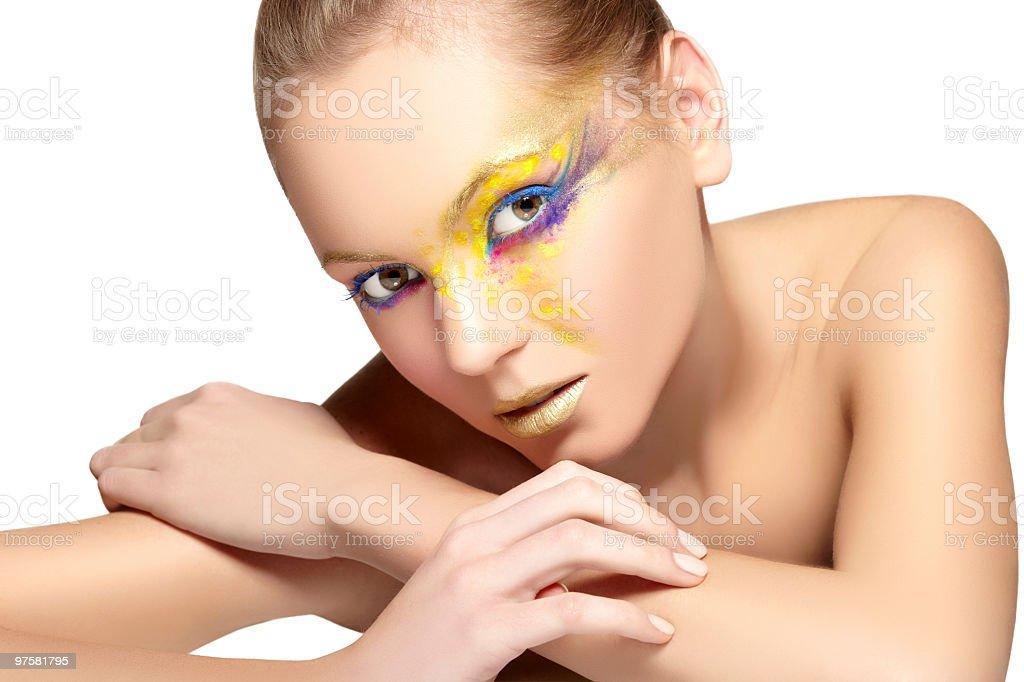 Portrait coloré photo libre de droits