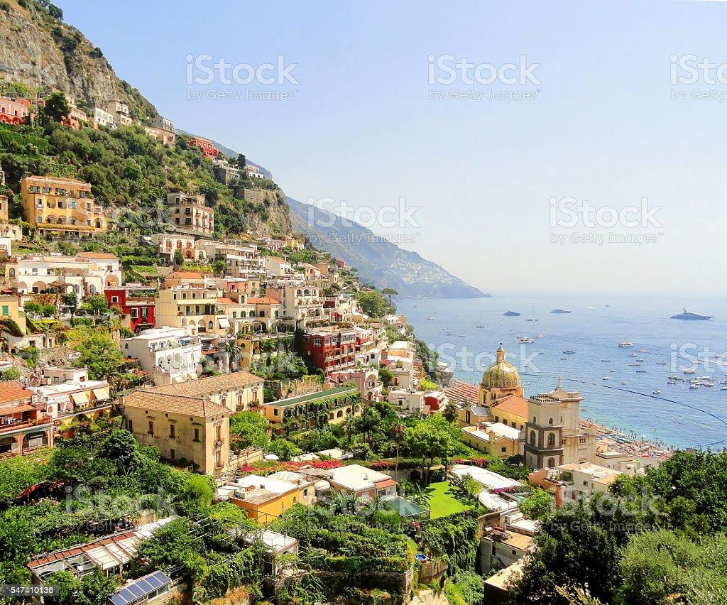 Colorful Positano Town stock photo