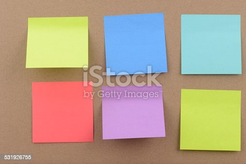 istock Colorful Post it notes 531926755