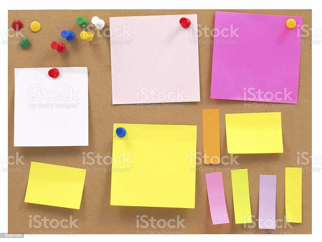 colorful posts royalty-free stock photo