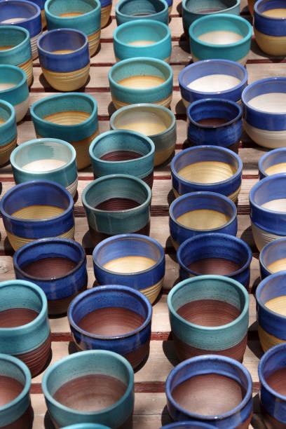 Colorful Pots stock photo