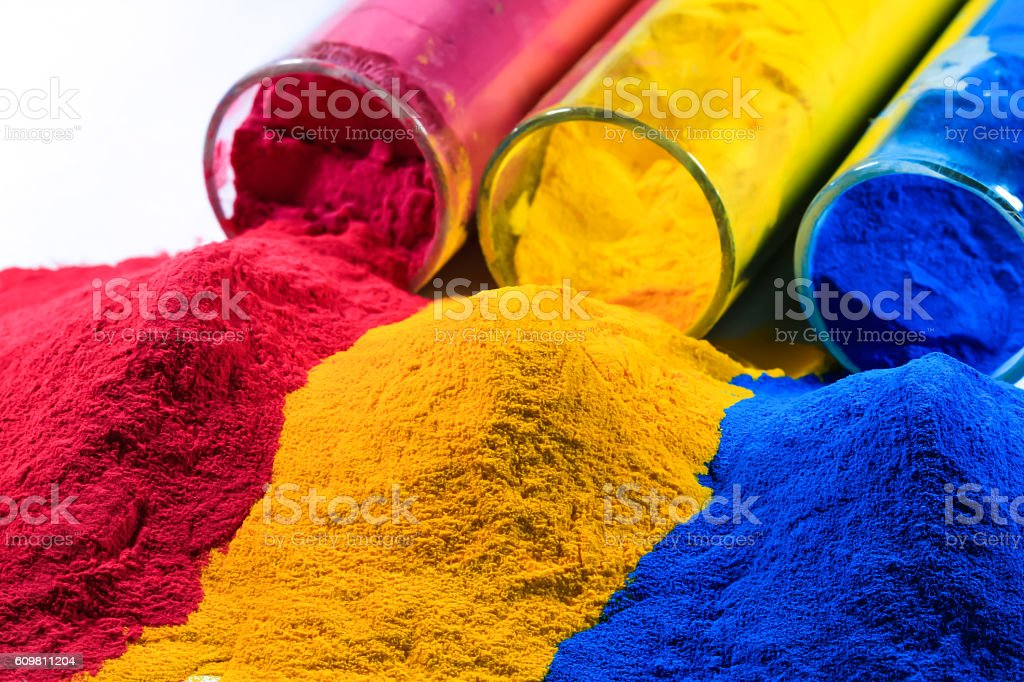 Colorful Powder Coating stock photo