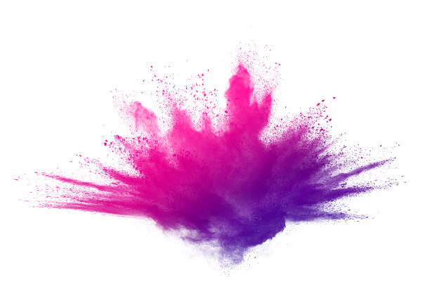 Colorful powder explosion on white background. Colored cloud. Colorful dust explode. Paint Holi. Abstract powder splatted background. Colorful powder explosion on white background. Colored cloud. Colorful dust explode. Paint Holi. burst stock pictures, royalty-free photos & images
