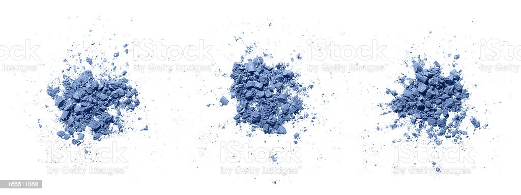 Colorful powder on white. royalty-free stock photo