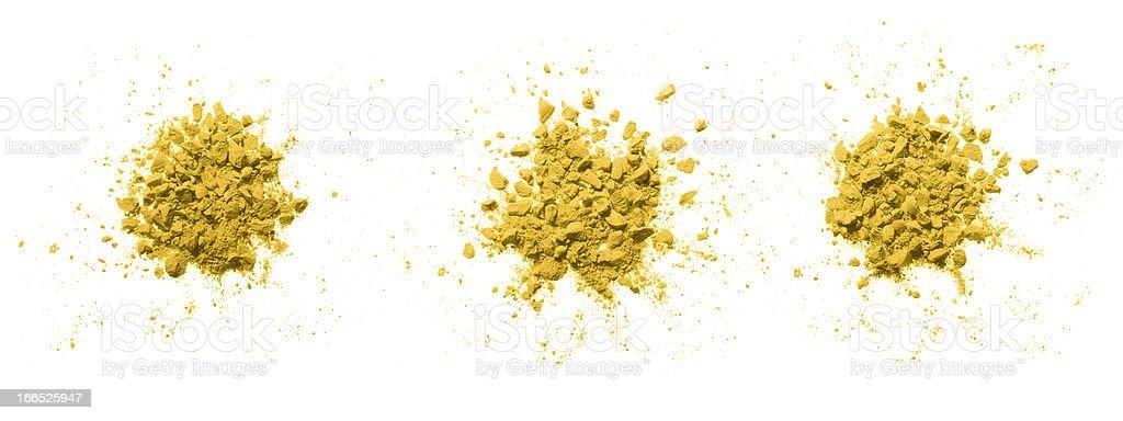 Colorful powder on white. royalty-free stock photo