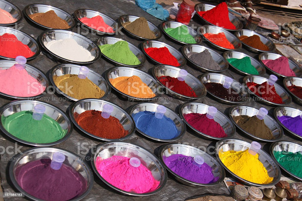 Colorful powder pigments royalty-free stock photo