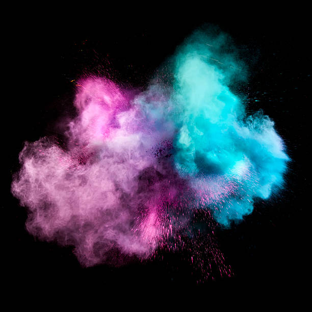 Colorful powders stock photo