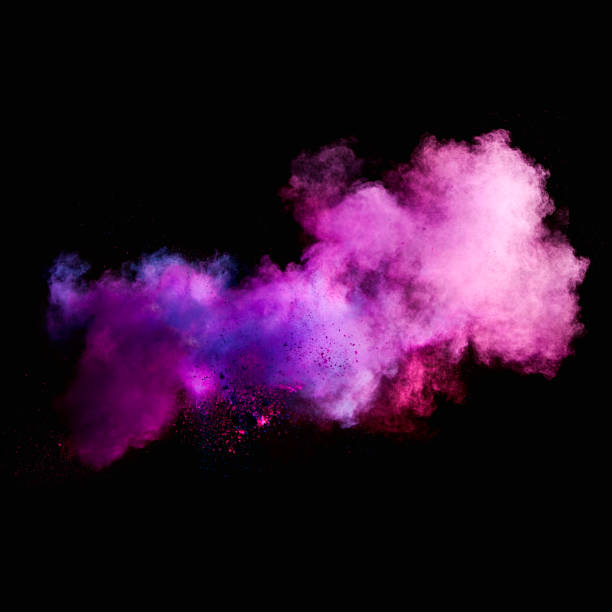 Colorful powders Colorful powders on black background smoke physical structure stock pictures, royalty-free photos & images