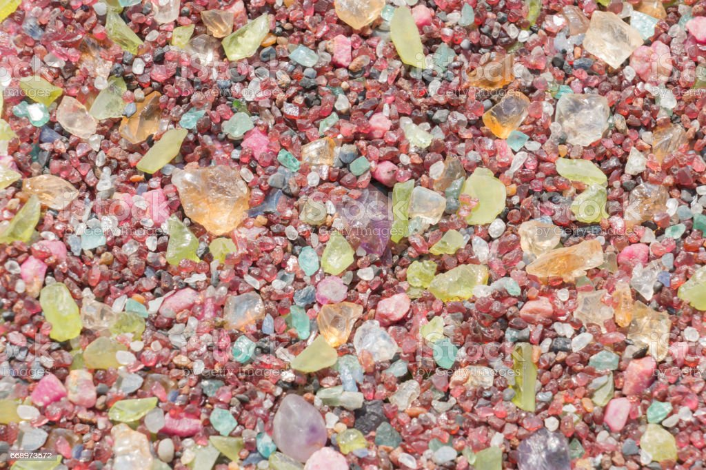 Colorful precious stones gems background. stock photo