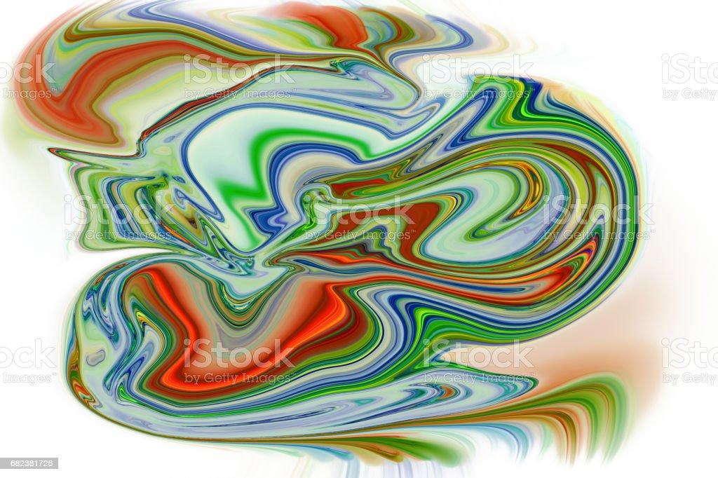 Colorful psychedelic liquefied background foto de stock libre de derechos