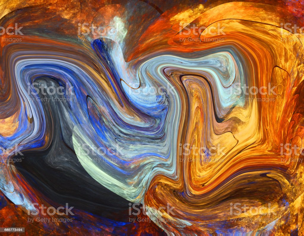 Colorful psychedelic liquefied background royalty-free stock photo