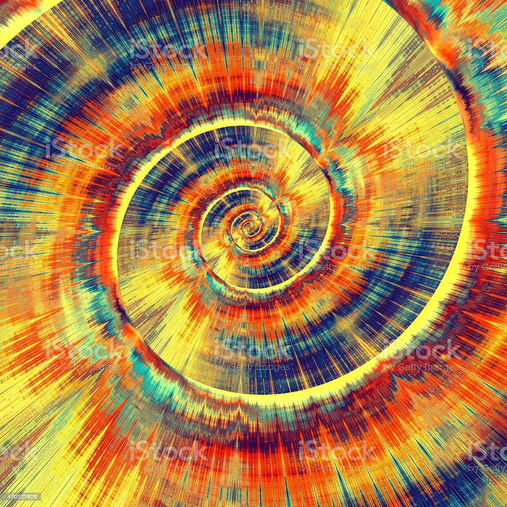 Colorful Psychedelic Spiral Abstract Bright Vortex Fractal ...