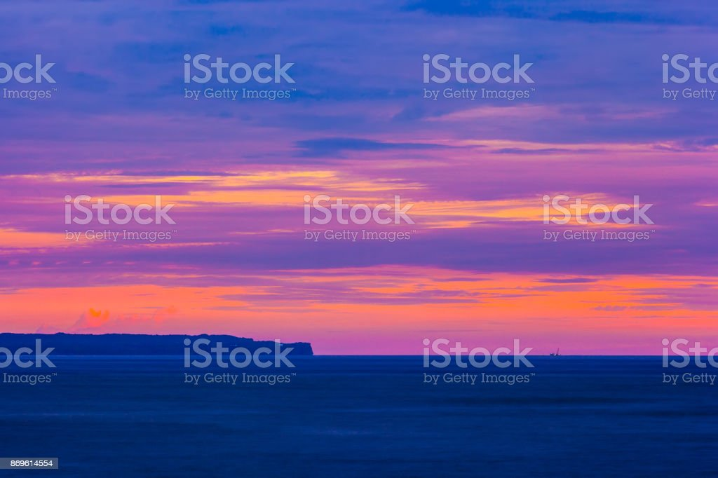 Colorful Purple Sunset At Bali Indonesia Stock Photo Download Image Now Istock