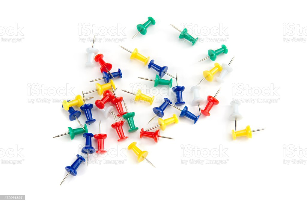 Colorful Pushpins stock photo